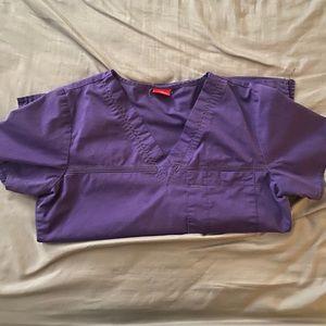 Dickies purple scrub top